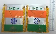 Hindu Flag India Flag Mini Banner Car rear view mirror glass window
