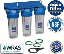 "10"" Triple Water Filter Housing 3/4"" + Bacinix Ring / Biodiesel"
