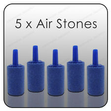 "5 x Aquarium 1"" AIRSTONES Fish Tank Air Stone Small 25mm Oxygen Bubbles Pump"