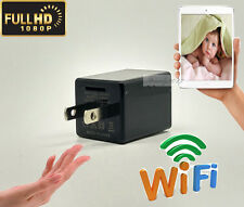 1080P WIFI USB SPY HD DIY Camera Hidden Wall Phone Charger AC Adapter Plug DVR