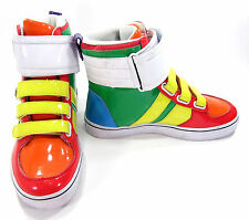 Radii Shoes 420 Top Patent Leather Green/Yellow Sneakers Size 7.5 EUR 40.5