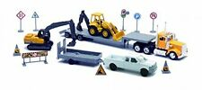 Newray 1/43 Construction Set Ford F-250 and Kenworth W900 Low Boy Truck