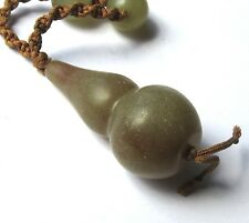 "28"" HAND-KNOTTED NECKLACE OF STUNNING OLD CHINESE JADE ANTIQUE BEADS"