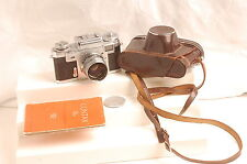 CONTAX IIIA 35MM RANGEFINDER FILM CAMERA W/50MM F1.5 ZEISS SONNAR CASE STRAP