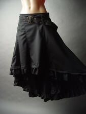 Steampunk Victorian Goth Pirate Wench Showgirl Black Belted Petticoat Skirt 1XL