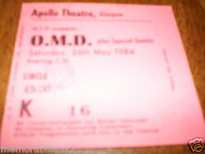ORCHESTRAL MANOUVERES IN THE DARK  Concert Ticket Glasgow Apollo 26/05/1984