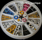 6 Color Metallic Rivet 3D Nail Art Deco Circle Round Square Heart Star Studs