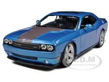 2008 DODGE CHALLENGER SRT8 BLUE 1:24 DIECAST MODEL CAR BY MAISTO 31280