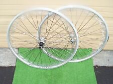 WHEEL PAIR RIM BRAKE  650B  27 .5  SLVR  130 MM 8/10 SPD  WEI ZAC19 36 H