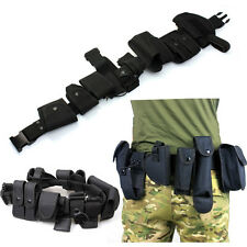 Patrol System Police Prison Guard Officer EMS Security Duty Belt Pouches Rigs HK