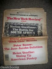 New York Review of Books Nov 7th 1985 From John Cheever Estate