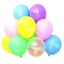 "Hello Kitty 12"" Printed Latex Balloons Party Decoration Assorted Set Of 10"