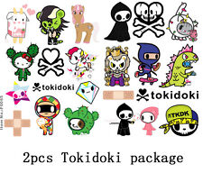 2pcs A5 Size Tokidoki Cartoon Snowboard Luggage Car Bike Vinyl Stickers 64-65