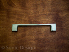 "Pack of 5, Modern 6"" Brushed Nickel Kitchen Cabinet Rectangular Handle Pull"