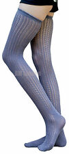 Sexy LADIES' GRAY Over-Knee High Socks Knitted Cotton Raffle Socks Best Quality