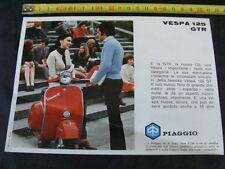 BROCHURE DI UNA PAGINA VESPA 125 GTR 1970 PIAGGIO OLD SCOOTER EPOCA ITALY