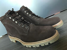 New BALLY SWISS MADE WELLYS SUEDE BROWN HIKING BOOTS size 11 $595