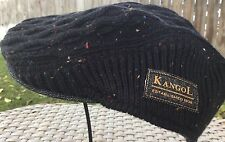 KANGOL KNEP CABLE Ivy Driver Driving CAP BLACK MULTI COLORED S/M 56cm 7