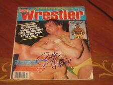 Roddy Piper Autographed Wrestling Cover Page