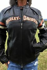 Harley Davidson Women's Miss Enthusiast Leather Jacket 3 in 1 Small #98142-09VW