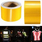 5M Gold Warning Reflective Safety Tape Roll Self-Adhesive Sticker For Trucks Car