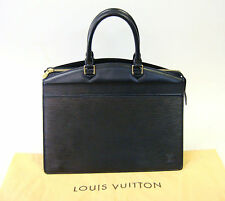 Authentic LOUIS VUITTON Riviera Epi Leather Black Hand Bag Business Bag 430
