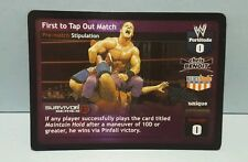 WWE WWF Raw Deal First To Tap Out Match stipulation card