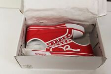 NEW Womens Size 6.5 Red White No Lace Slip On Canvas Rocawear Sneakers Shoes