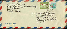 South Korea 1970's Commercial AIrmail Cover To USA #C34277
