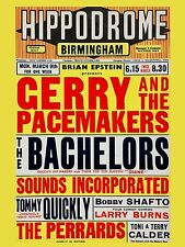 "Gerry and the Pacemakers Birmingham 16"" x 12"" Photo Repro Concert Poster"