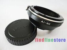 Nikon AI AIS F Lens to Samsung NX Adapter NX5 NX10 NX11 NX210 NX300 NX1000 + CAP