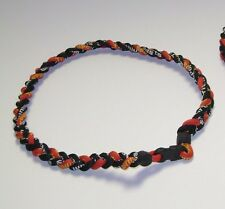 Maryland Terrapins-3 Rope Paracord Necklace-Titanium Sport Red,Black,Gold,White!
