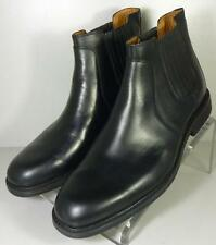 208691 SPBT50 Men's Boots Size 9 M Black Leather Ankle Boots Johnston & Murphy