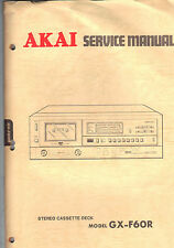 AKAI Service Manual Model GX f60r Repair Book stereo cassette tape deck player