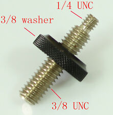 "3/8"" male to 1/4"" Male Threaded with big 3/8 female nut fr tripod and camera"