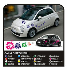 KIT ADESIVI FIORI per SMART FIAT 500 car Flowers stickers 18 PZ MINI COOPER