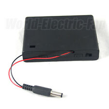 Battery Pack Holder Box 6 AA LR6 Case 9V ON/OFF Switch DC 2.1 5.5mm Power Plug