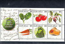 South Africa 2011 MNH Green Earth Heatlhy Garden SG#MS1903 6v Spinach Carrots