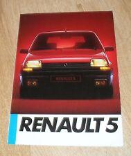 RENAULT 5 opuscolo 1985-TC TL GTL TS TSE-seconda generazione