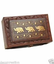 "Wooden Handcrafted 10"" Sheesham Multiporpose large Jewellery Box Home Decor Gift"