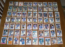 70 QUEBEC NORDIQUES HOCKEY CARD COLLECTION - 1982-83 - 1989-90