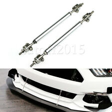 Adjustable Front Rear Splitter Frame Bumper Protector Rod Support Universal