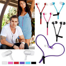 6pcs / Lot 3.5mm Jack Universal In-Ear Anti Tangle Zip Earphones Earbuds Headset