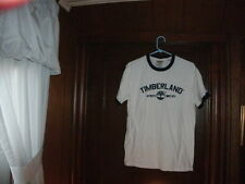 Timberland t-shirt S/S white AUTHENTIC SINCE 1973 w navy blue ringer size XL NEW