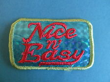 Vintage 70's Patch Hippie Badge Disco Crest Retro Fashion Nice n' Easy C