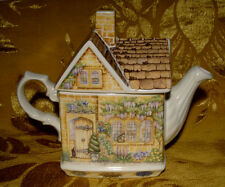 "JAMES SADLER *WYSTERIA LODGE* TEAPOT from ""COUNTRY COTTAGES"" SERIES ENGLAND"