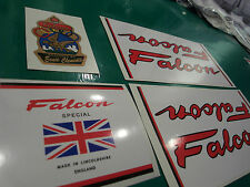 Falcon decal set for Lincolnshire-made frames incl. metallic-print head decal #1