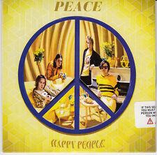 PEACE Happy People 2015 UK numbered + sealed 10-trk promo test CD