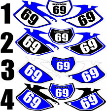 2007-2011 Yamaha WRF450 WRF 450 WR F Number Plates Side Panels Graphics Decal