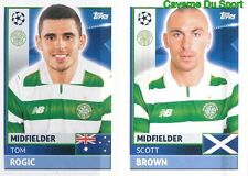 QFB9-10 SCOTT BROWN - TOM ROGIC CELTIC.FC STICKER CHAMPIONS LEAGUE 2017 TOPPS